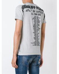 Philipp Plein - Gray 'punk Plein' T-shirt for Men - Lyst