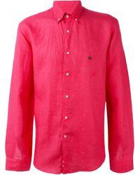 Etro   Blue Button Down Shirt for Men   Lyst