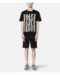 Christopher Kane - Black Reflective Broken Bolster Frame T-shirt for Men - Lyst