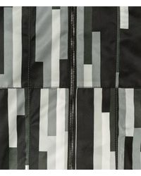 Christopher Kane - Gray Bolster Printed Grid Bomber for Men - Lyst