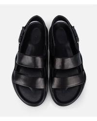 Christopher Kane - Black Safety Buckle Sandals - Lyst