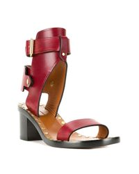 Isabel Marant - Red Étoile Jaeyrn Leather Sandals - Lyst