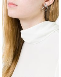 Yvonne Léon - Metallic Yvonne Léon Diamond Fish Bone Earrings - Lyst