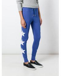Zoe Karssen - Blue Embroidered Star Track Pants - Lyst