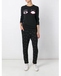Zoe Karssen - Black Embroidered Eyes Sweatshirt - Lyst