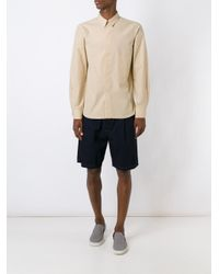 Lemaire - Natural Patch Pocket Shirt for Men - Lyst