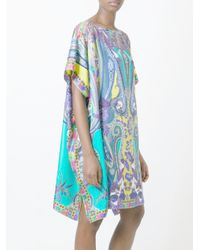 Etro - Black Printed Kaftan Dress - Lyst