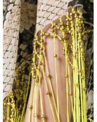 Roberto Cavalli - Natural Fringed Snakeskin Print Dress - Lyst