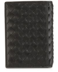 Bottega Veneta - Black Woven Billfold Wallet for Men - Lyst
