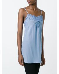 Twin Set - Blue Lace Detail Cami Top - Lyst