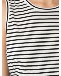 Andrea Marques - Black Striped Tank Top - Lyst