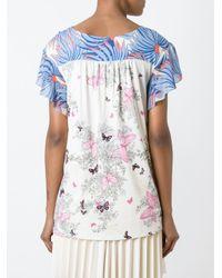 Tsumori Chisato - Multicolor Ruffle Sleeve Printed Blouse - Lyst