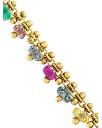 Natasha Collis - Blue 'precious' Diamond, Sapphire & Emerald Friendship Bracelet - Lyst