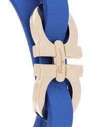 Ferragamo - Blue Gancini Bracelet - Lyst
