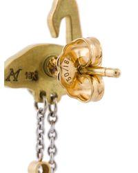 Marc Alary - Metallic Micro Flamingo Diamond Earrings - Lyst