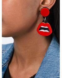 Yazbukey - Red 'earyper' Earrings - Lyst