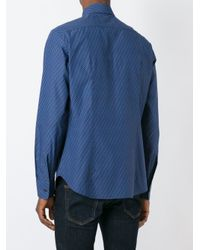 Ferragamo - Blue Printed Shirt for Men - Lyst