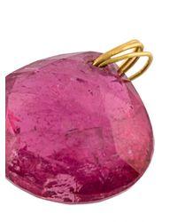 Marie-hélène De Taillac - Pink Round Pendant Necklace - Lyst