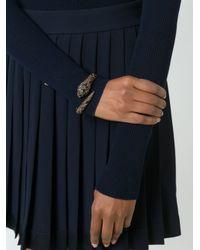 Roberto Cavalli | Brown Gold-Plated Swarovski Crystal Panther Bracelet | Lyst