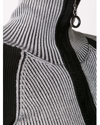 Edun - Black Rib Collared Sweater - Lyst