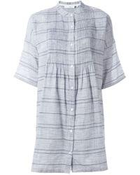 Rag & Bone | Gray Striped Shirt Dress | Lyst