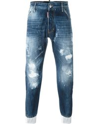 DSquared² - Black 'classic Kenny Twist' Jeans for Men - Lyst