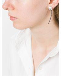 Carolina Bucci | White 'superstellar' Pearl And Sapphire Stud Earring | Lyst