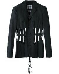 Jean Paul Gaultier - Black Cage Cotton Jacket - Lyst