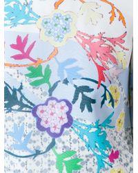 Peter Pilotto - Blue Floral Neck Tie Blouse - Lyst