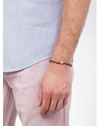 Luis Morais | Brown 14kt Gold Scarab Lozenge Bracelet for Men | Lyst