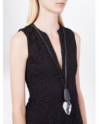 Monies - Black Stacked Pendant Necklace - Lyst