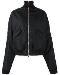 Incarnation - Black Oversized Cotton Bomber Jacket - Lyst
