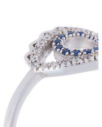 KENZO - Blue 'eye' Ring - Lyst