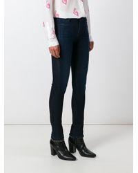 J Brand | Blue Skinny Jeans | Lyst