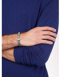 Miansai | Gray Anchor Wrap Bracelet for Men | Lyst
