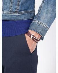 Miansai - Red Anchor Wrap Bracelet for Men - Lyst