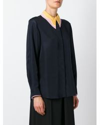 ROKSANDA - Blue Pointed Collar Shirt - Lyst