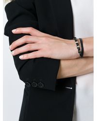 Ferragamo - Black Link Wrap Bracelet - Lyst