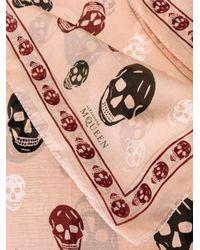 Alexander McQueen - Multicolor 'skull' Scarf - Lyst