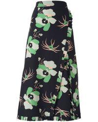 Marni - Black Dakota Print Midi Skirt - Lyst