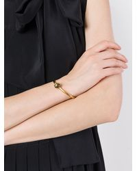 Marc Jacobs - Metallic 'flower' Hinge Cuff - Lyst