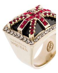 Alexander McQueen - Metallic 'britannia' Ring - Lyst