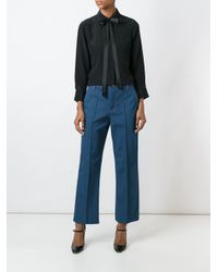 Marc Jacobs - Blue 'bowie' Cropped Denim Trousers - Lyst