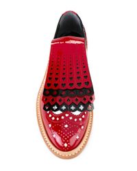 Robert Clergerie - Red X Disney Royal Leather Brogues - Lyst