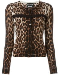 Boutique Moschino - Multicolor Animal Print Cardigan - Lyst