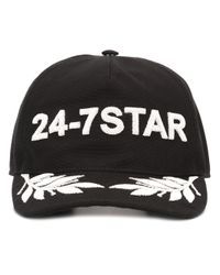 DSquared² | Metallic Icon Embroidered Canvas Baseball Hat for Men | Lyst