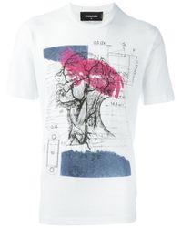 DSquared² - Black Anatomy Print T-shirt for Men - Lyst