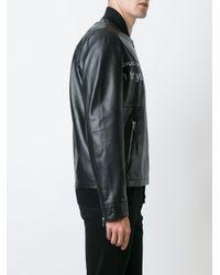 McQ - Black Urban Poetry Print Jacket for Men - Lyst
