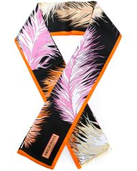 Emilio Pucci - Multicolor Feather Print Scarf - Lyst
