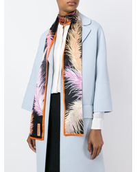 Emilio Pucci - Multicolor Feather Print Scarf - Lyst